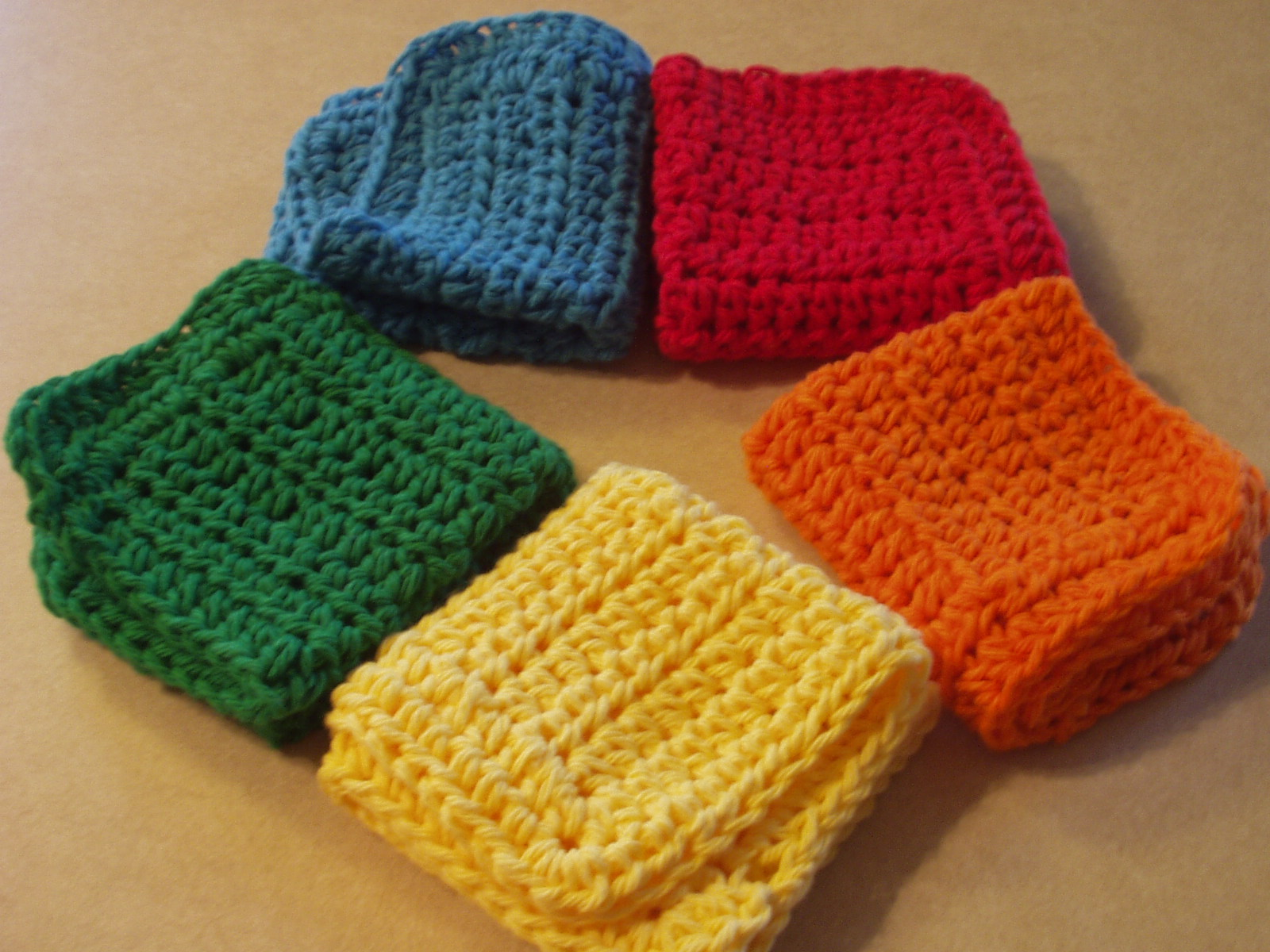 Free Crochet Pattern For Easy Dishcloth : EASY CROCHET DISHCLOTH PATTERNS Free Patterns