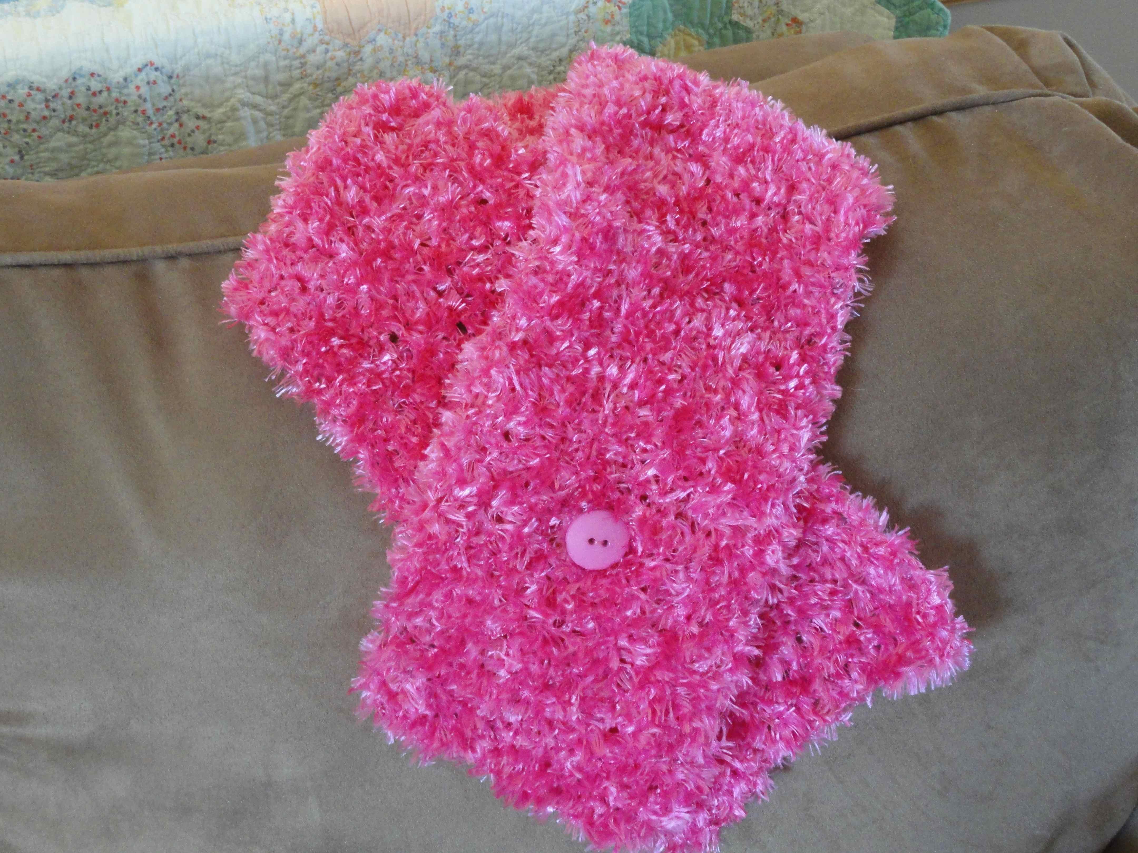 Crochet Cancer Ribbon Scarf Yarnchick
