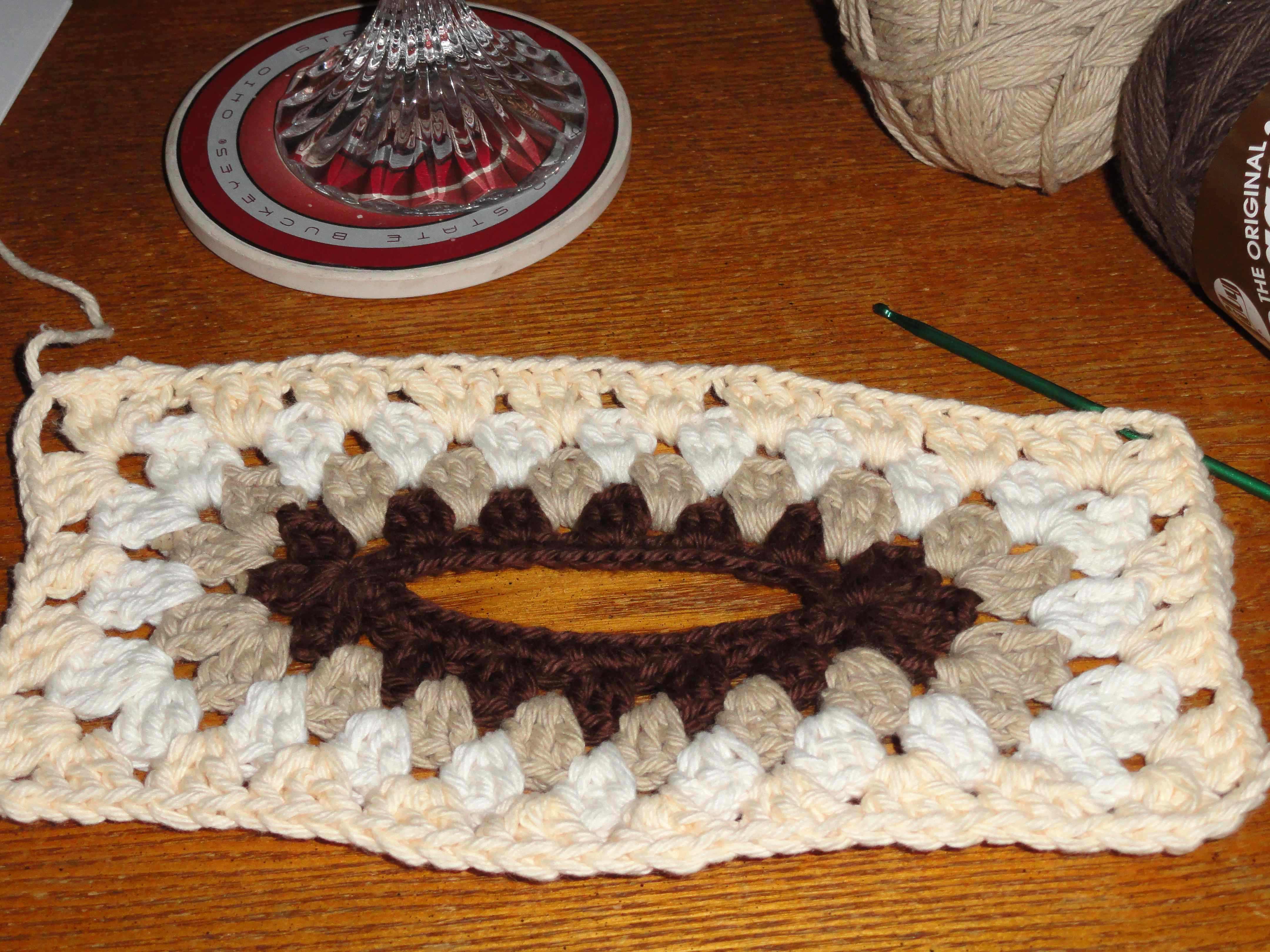BEADED CROCHET DOILY BOWL and GOBLET COVERS