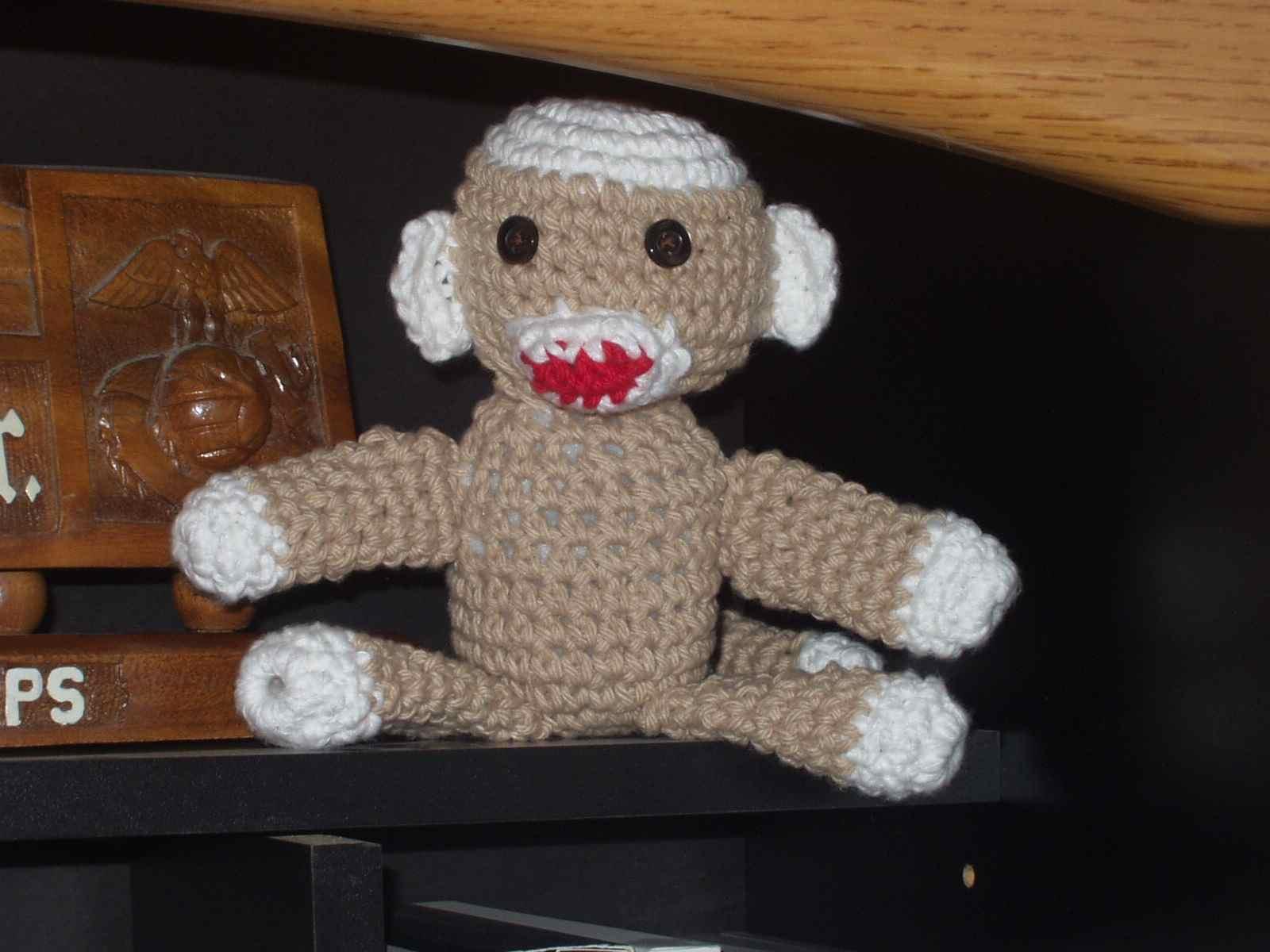 Amigurumi Crochet Sock Monkey : crochet:: amigurumi sock monkey yarnchick40