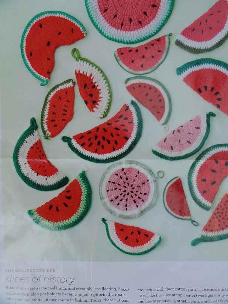 crochet:: watermelon & citrus potholders (1/6)