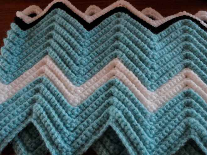 single crochet ripple