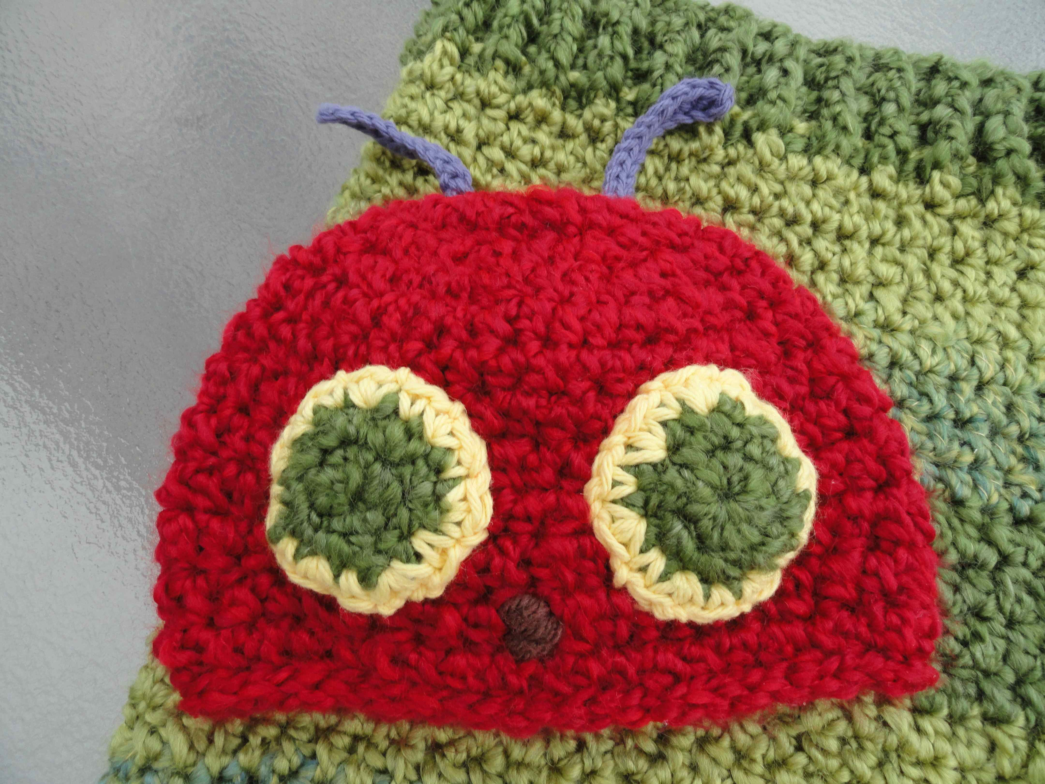 crochet:: very hungry caterpillar yarnchick40