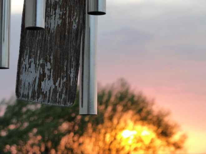 chimes and sunset