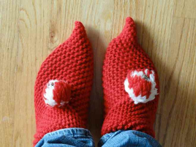 vintage elf slippers