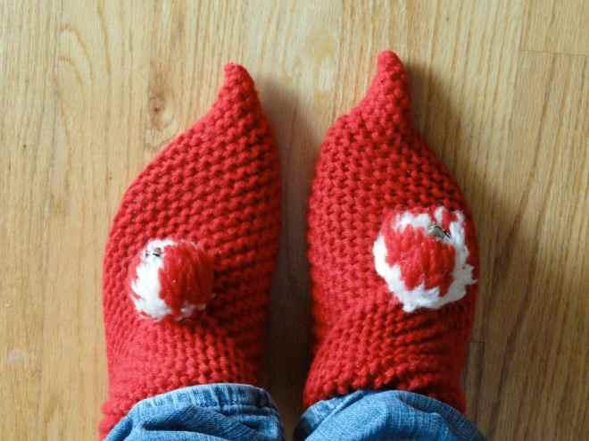 vintage elf slippers
