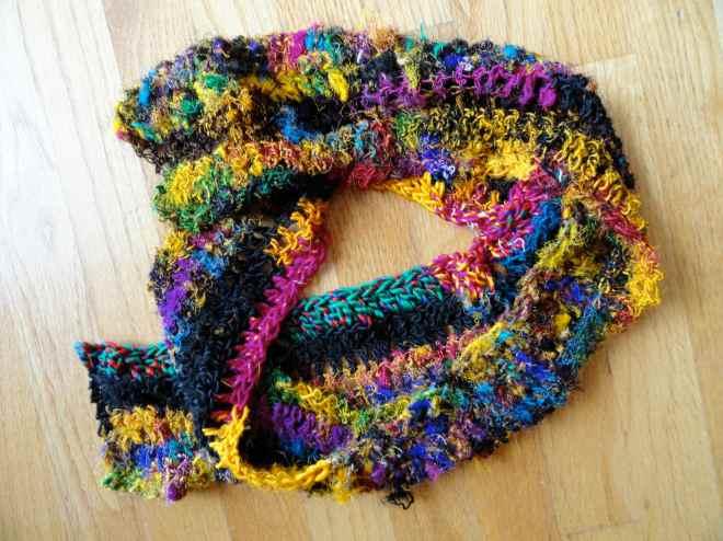 sari silk yarn scarf