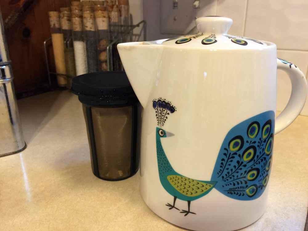 peacock tea pot